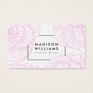 Teste padrão floral do motivo do vintage cartão de visitas