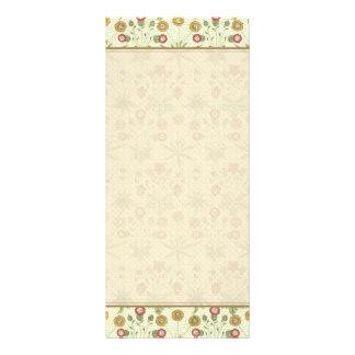 Teste padrão floral do país do vintage 10.16 x 22.86cm panfleto
