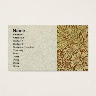 Teste padrão floral do papel de parede do cartão de visitas