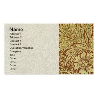 Teste padrão floral do papel de parede do cravo-de cartões de visita