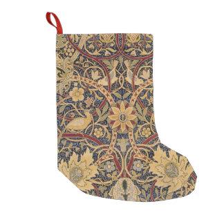 Teste padrão floral do tecido da tapeçaria do meia de natal pequena