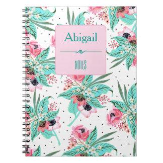 Teste padrão floral do verão - caderno
