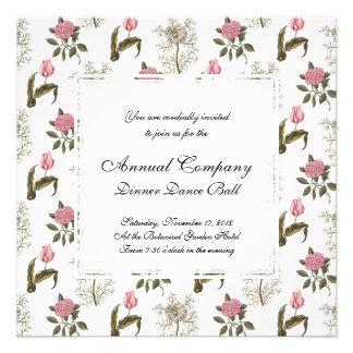 Teste padrão floral do vintage inglês velho do convite personalizados