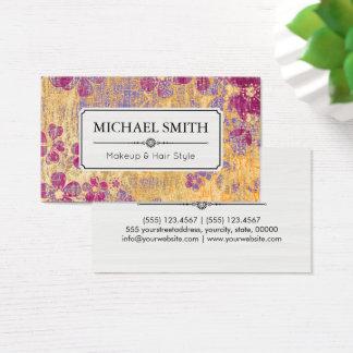 Teste padrão floral do vintage moderno do penteado cartão de visitas