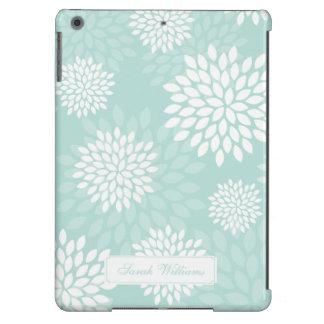 Teste padrão floral dos crisântemos da hortelã capa para iPad air