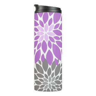 Teste padrão floral dos crisântemos roxos e