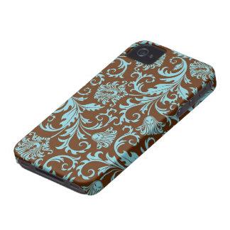 Teste padrão floral dos damascos de Brown e do Capinha iPhone 4