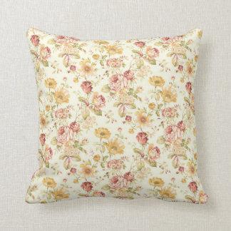 Teste padrão floral elegante do vintage almofada