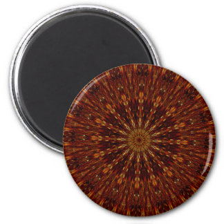 Teste padrão floral escuro de Brown do design do Ímã Redondo 5.08cm