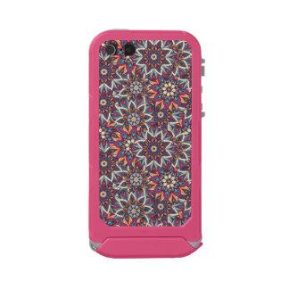 Teste padrão floral étnico abstrato colorido da capa à prova d'água para iPhone SE/5/5s