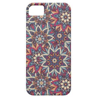 Teste padrão floral étnico abstrato colorido da capa barely there para iPhone 5