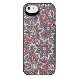 Teste padrão floral étnico abstrato colorido da capa carregador para iPhone SE/5/5s