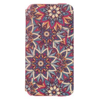 Teste padrão floral étnico abstrato colorido da capa carteira incipio watson™ para iPhone 6