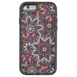 Teste padrão floral étnico abstrato colorido da capa iPhone 6 tough xtreme