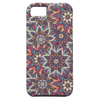 Teste padrão floral étnico abstrato colorido da capa para iPhone 5
