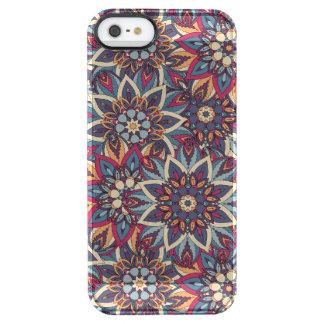 Teste padrão floral étnico abstrato colorido da capa para iPhone SE/5/5s transparente