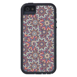 Teste padrão floral étnico abstrato colorido da capas para iPhone 5