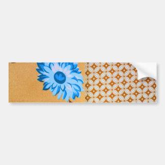 Teste padrão floral feminino chique de Brown Quatr Adesivos