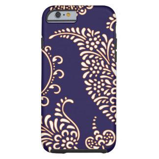 Teste padrão floral feminino do henna de paisley capa tough para iPhone 6