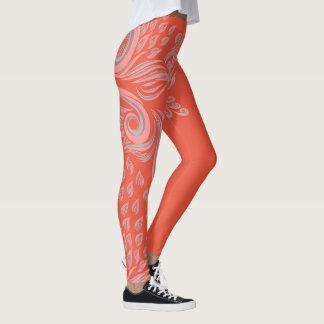 Teste padrão floral impressionante que legging