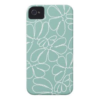 Teste padrão floral lunático do Doodle da pétala Capa Para iPhone 4 Case-Mate
