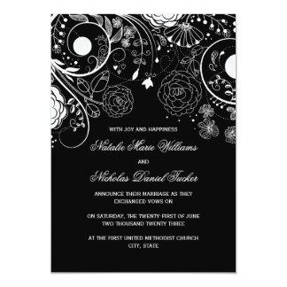 Teste padrão floral preto/branco - anúncio do