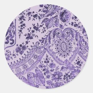 Teste padrão floral roxo do laço adesivo