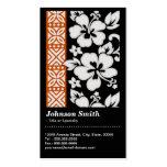 Teste padrão floral tribal abstrato com código de cartão de visita