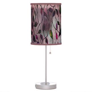 Teste padrão frondoso da viola luminária de mesa
