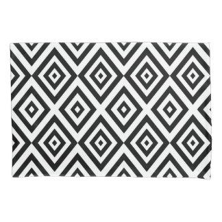 Teste padrão geométrico abstrato - preto e branco.