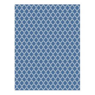 Teste padrão geométrico azul cartão postal