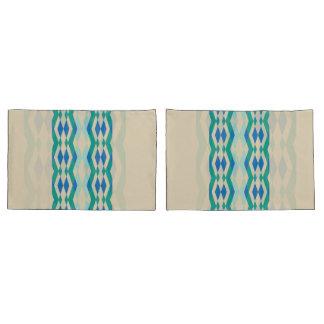 Teste padrão geométrico azul verde no fundo bege