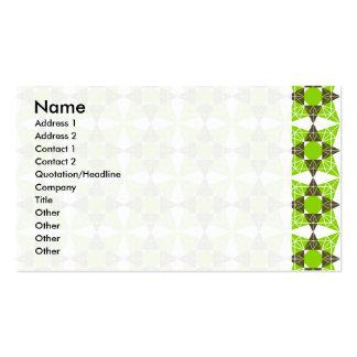 Teste padrão geométrico cartão de visita