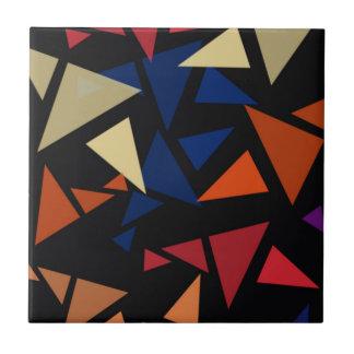 Teste padrão geométrico colorido