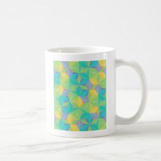 Teste padrão geométrico colorido caneca de café