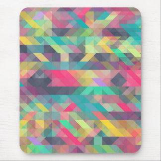 Teste padrão geométrico colorido legal dos mouse pad
