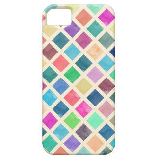 Teste padrão geométrico da aguarela capa para iPhone 5