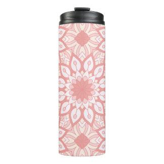 Teste padrão geométrico da mandala floral rosado