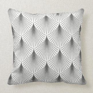 Teste padrão geométrico do art deco preto no almofada