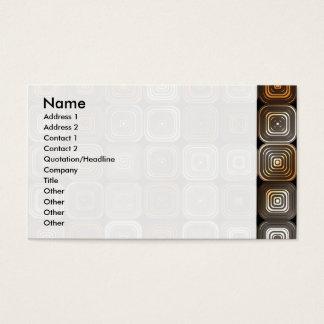 Teste padrão geométrico do chocolate cartão de visitas