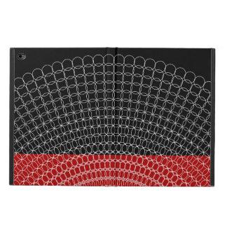 Teste padrão geométrico do planeta vermelho capa para iPad air 2