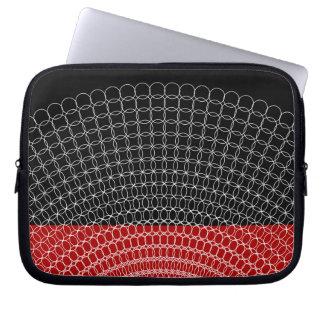 Teste padrão geométrico do planeta vermelho sleeve para laptop