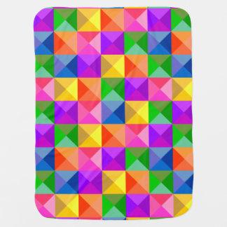 Teste padrão geométrico do tom da jóia cobertores para bebe