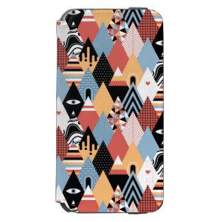 Teste padrão geométrico do triângulo místico capa carteira incipio watson™ para iPhone 6