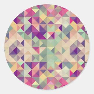 Teste padrão geométrico dos hipsteres do vintage adesivo