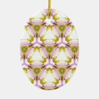 Teste padrão geométrico feminino delicado ornamento de cerâmica oval
