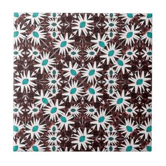 Teste padrão geométrico floral moderno azulejo quadrado pequeno