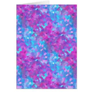 Teste padrão holográfico dos Sparkles Cartão Comemorativo