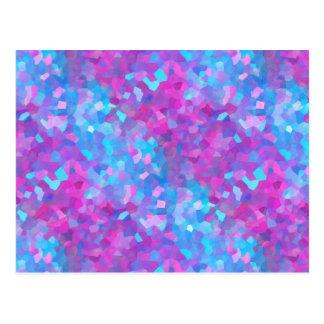 Teste padrão holográfico dos Sparkles Cartão Postal