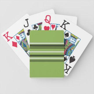 Teste padrão horizontal verde das listras das cartas de baralho